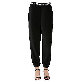 Alexander Wang.t 4cc1204024001 Donne's Pantaloni di cotone nero