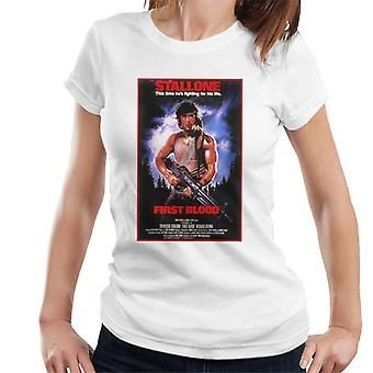 Rambo First Blood Poster Women's T-Shirt
