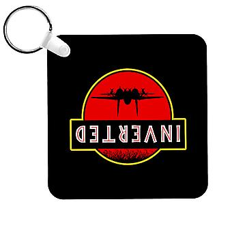 Top Gun Jurassic Park Inverted Keyring
