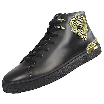 Ed Hardy New Beast High Top Black/gold Trainers