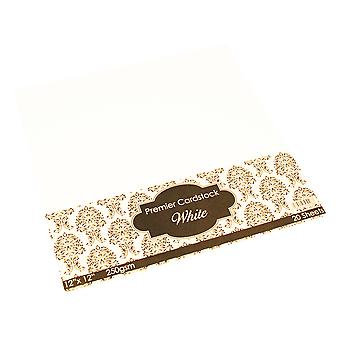 Craft UK Premier Card 12x12 Inch White Paper Pack