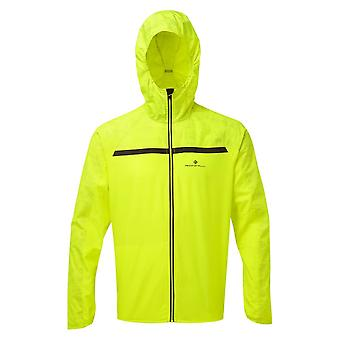 Ronhill Momentum Afterlight Mens Wind & Water Resistant Running Jacket Midnight Fluo Yellow/reflect