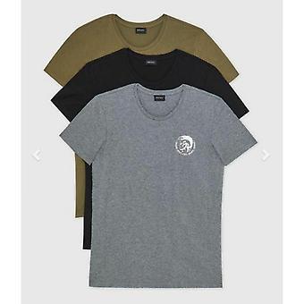 Pakkaus 3 Musta/Harmaa T-paidat