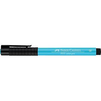 Faber Castell Indian Ink Artist Pen Brush 154 Light Cobalt Turquoise