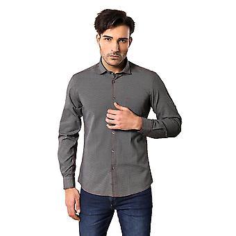نقطة منقوشة الرجال الرمادية & apos;s قميص | wessi
