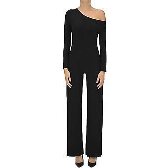 Norma Kamali Ezgl408017 Naisten's Musta Polyesteri Haalari