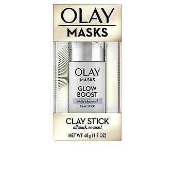 Olay Masker Clay Stick Glow Boost Vit Charcoal 48 Gr För Kvinnor