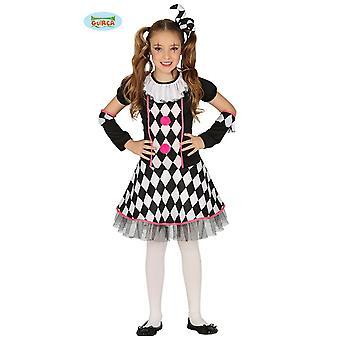 Clown Harlequin meisje kostuum ontbijt jester kind kostuum