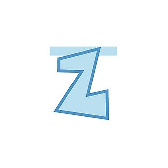 Linking Banner 20cm Baby Blue Letter - Z Party Decoration