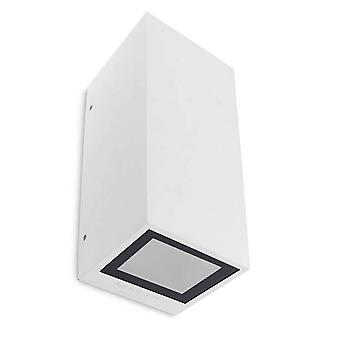 Leds-C4 Afrodita - 2 luces al aire libre arriba luz de pared blanca IP65, GU10