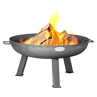 Cast Iron Fire Pit | Outdoor Garden Patio Heater Camping Bowl for Wood, Charcoal - 75cm Diameter