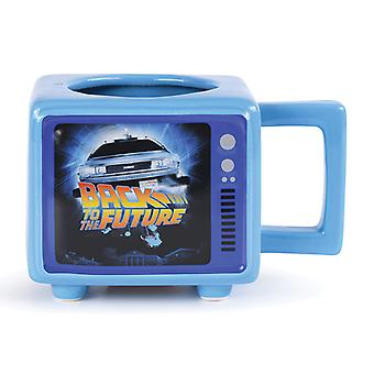 Back To The Future Retro TV Heat Changing 3D Mug