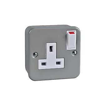 Schneider Electric GMC131SS 13A Metal Clad Single Switched Socket