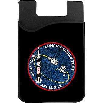 NASA Apollo 9 Mission Badge ahdistunut puhelinkortin haltija