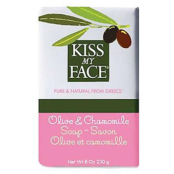 Kiss My Face Bar Soap, Olive & Chamomile, 8 Oz