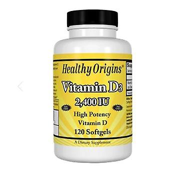 Healthy Origins Vitamin D3 2400 IU, 120 Softgels