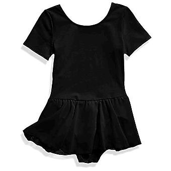 Essentials Girl's Short-Sleeve Leotard Dance Dress