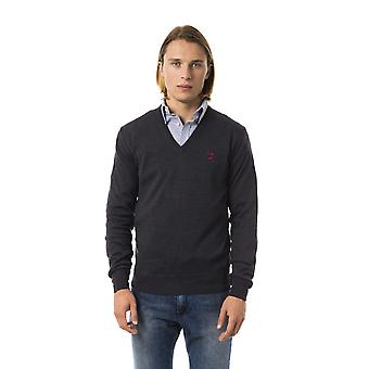 Uominitaliani Anthracite Extrafine V-Neck Sweater