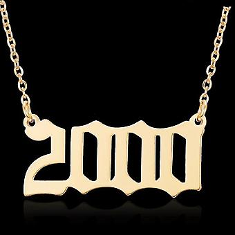 Gold plated necklace chain in 2000 unisex