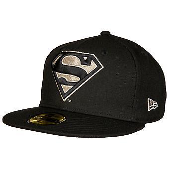 Superman Silber Symbol neue Ära 59Fifty montiert Hut