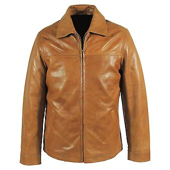 Kilimanjaro mens hunter tan leather jacket