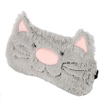 Childs grey furry cat eye mask