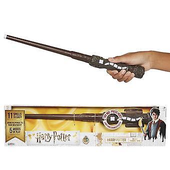 Harry Potter, varinha de treinamento de feiticeiro - 11 feitiços para lançar! varinha de brinquedo oficial com luzes e sons 'Äì a