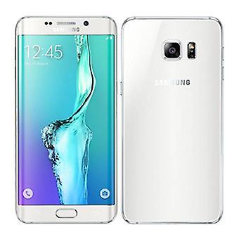 سامسونج سامسونج غالاكسي S6 حافة الهاتف الذكي مقفلة SIM مجانا - 32 GB - النعناع - أبيض - 3 سنوات الضمان