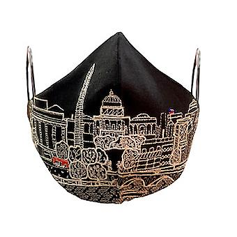 Washington DC Embroidered Skyline Fashionable Face Mask