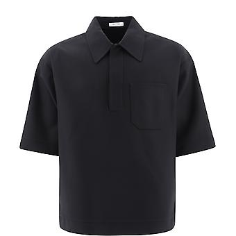 Valentino Vv3aab8075y0no Men's Black Cotton Shirt