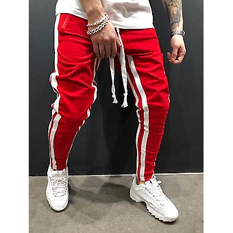 European/american Men's Leisure Fitness Stitching Zipper Foot Sports Pants