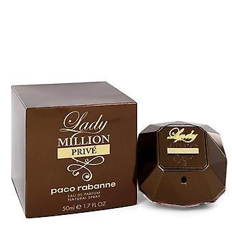 سيدة مليون Prive Eau De Parfum Spray بواسطة باكو رابان 1.7 oz Eau De Parfum Spray