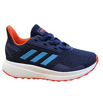 Adidas Sport Duramo 9 Kids Running Trainers Blue Lace Up Shoes F35107