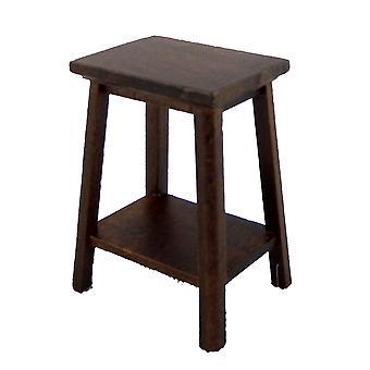 Nukkekoti Dark Oak Fern Plant Stand Jalusta Keskikokoinen Miniatyyri huonekalut 1:12