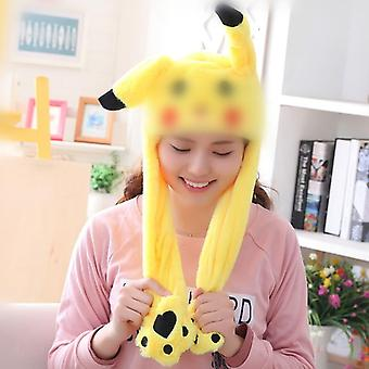Various Styles Cute Rabbit Hat With Light, Air Float Filling Ear Moving Cap
