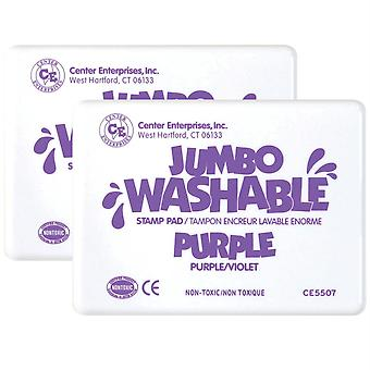 Jumbo Washable Unscented Stamp Pad, Purple, Pack Of 2