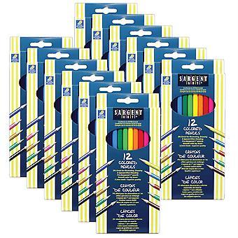 Colored Pencils, 12 Colors Per Box, 12 Boxes
