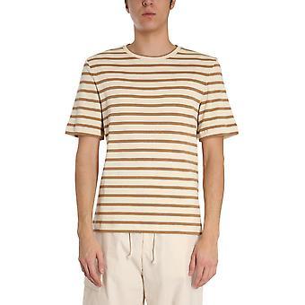 Jil Sander Jpus707534ms247518280 Men's Beige Cotton T-shirt