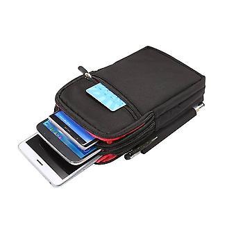 Fermeture à glissière multifonctionnelle Vertical Stripes Pouch 4 Bag Case pour Doogee S96 Pro (2020)