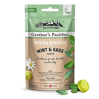 Grether's Fresh Breath Mint & Sage Pastilles 45g