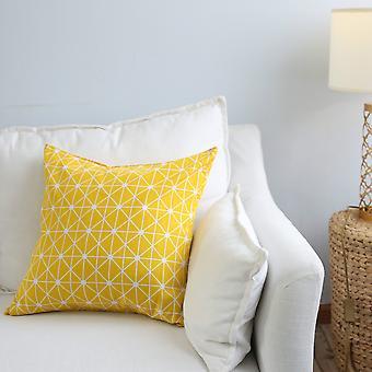 Geometric Art Simple Sofa Throw Pillow Cushion Lattice Model Room Without Core