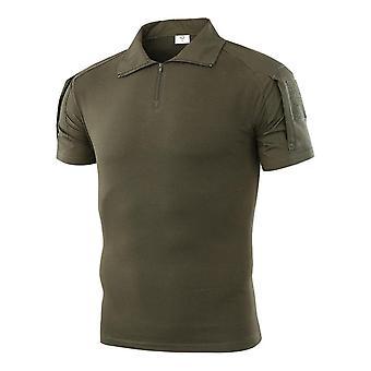 kortermet polo skjorte & ørken kamuflasje taktisk militær uniform absorbere