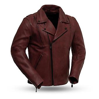 Mkl - crusted men's motorcycle leather jacket