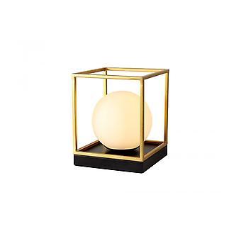 Lámpara De Sobremesa Eros 1 Bombilla Negro Mate 36 Cm