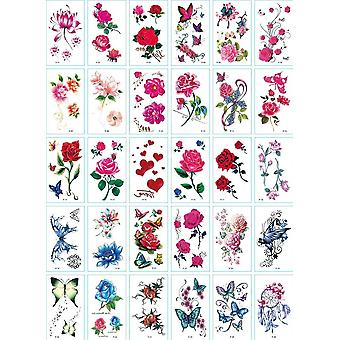 No Repeat, Temporary Tattoo Stickers, Waterproof, Arm Clavicle Body Art
