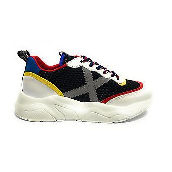 Scarpe Munich Sneaker Running Wave 29 Pelle Bianco/ Nero / Multicolor Unisex U21mu13