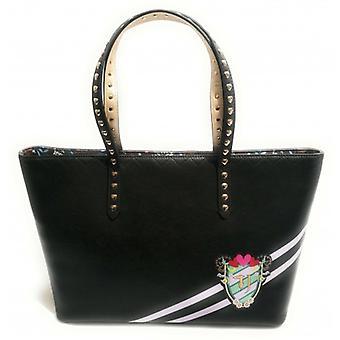 Bag Woman Trussardi Jeans Shopping Com Embreagem Cumino Xl Ecopelle Preto B19tj02