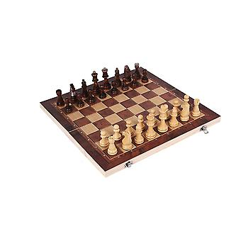 3 In 1 Chess Set Wooden Chess Game Backgammon Checkers For Indoor Casual Toy