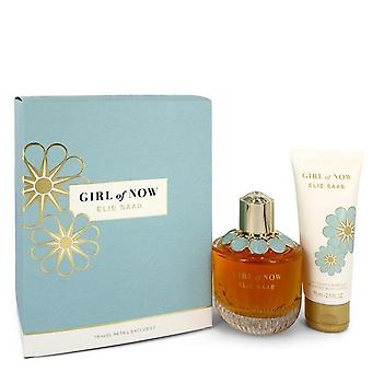 Girl Of Now Gift Set By Elie Saab 3 oz Eau De Parfum Spray + 2.5 oz Body Lotion