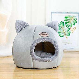 Pet Bed Cave House, Cat Ear, Kuld Mat, Home Tilbehør, Pour Chat Hyggeligt